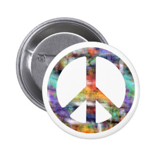 Artistic Peace Sign 2 Inch Round Button