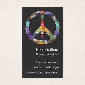 Artistic Peace Sign Custom Business Cards