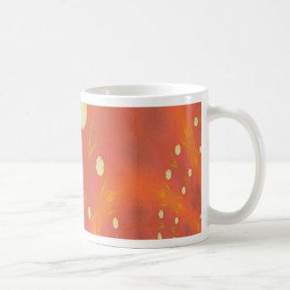 Artistic Peach Yellow Suns Fantasy Worlds Coffee Mug