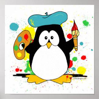 Artistic Penguin Print