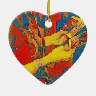 Artistic Physic Tarot Reading Ceramic Heart Ornament