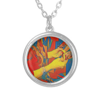 Artistic Physic Tarot Reading Silver Plated Necklace