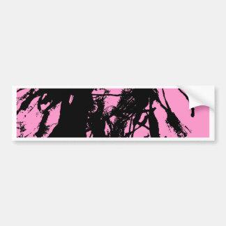 Artistic pink ink black texture