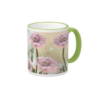 Artistic Pink Pastels Gerbera Daisies Mug