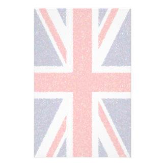 Artistic Pointillist UK Union Jack Flag Personalized Stationery