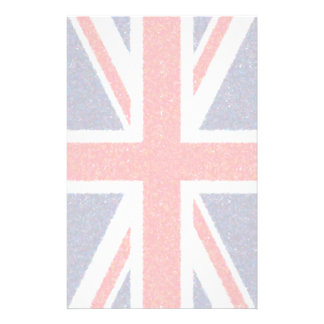 Artistic Pointillist UK Union Jack Flag Stationery