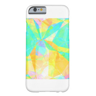 Artistic Polygon Painting Abstract Background Art Barely There iPhone 6 Case