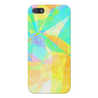 Artistic Polygon Painting Abstract Background Art Cover For iPhone 5/5S