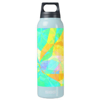 Artistic Polygon Painting Abstract Background Art Insulated Water Bottle