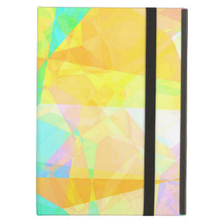 Artistic Polygon Painting Abstract Background Art iPad Air Cover