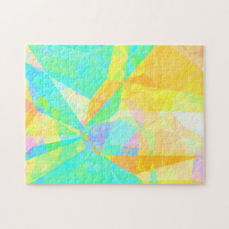 Artistic Polygon Painting Abstract Background Art Jigsaw Puzzle