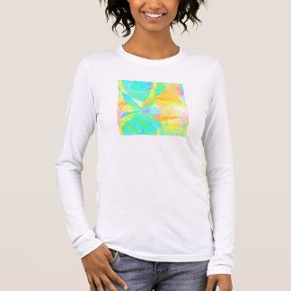 Artistic Polygon Painting Abstract Background Art Long Sleeve T-Shirt