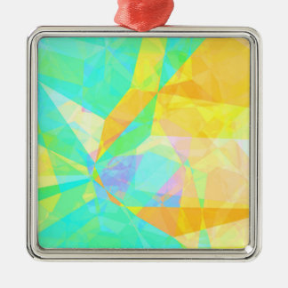 Artistic Polygon Painting Abstract Background Art Metal Ornament