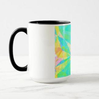 Artistic Polygon Painting Abstract Background Art Mug