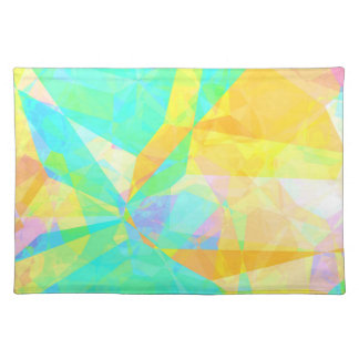 Artistic Polygon Painting Abstract Background Art Placemat