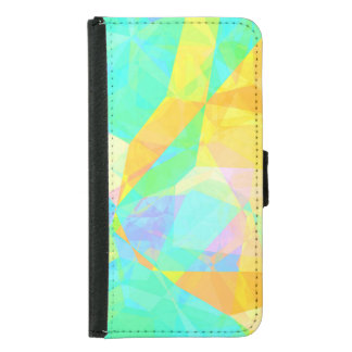 Artistic Polygon Painting Abstract Background Art Samsung Galaxy S5 Wallet Case