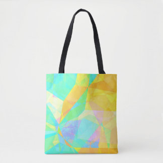 Artistic Polygon Painting Abstract Background Art Tote Bag