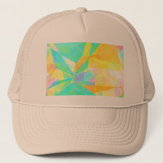Artistic Polygon Painting Abstract Background Art Trucker Hat