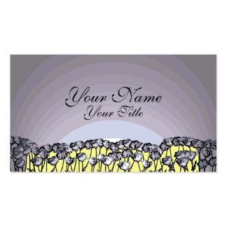 Artistic poppy flower custom business cards