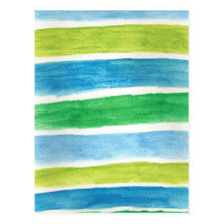 Artistic Postcard Watercolor Stripes