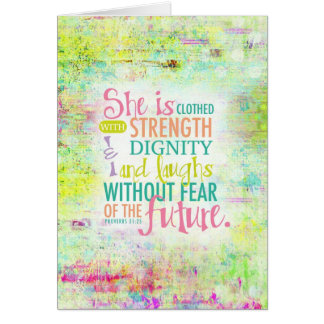 Artistic Proverbs 31:25 Card