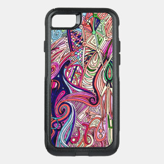 Artistic Psychedelic Art Pattern OtterBox Commuter iPhone 8/7 Case
