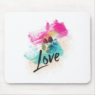 Artistic Puppy Love Mouse Pad