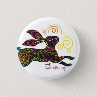 Artistic Rabbit 1 Inch Round Button