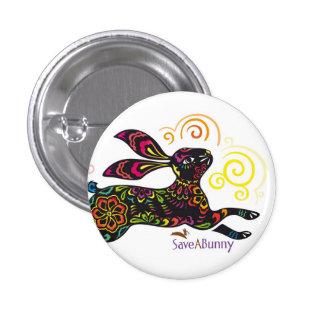 Artistic Rabbit 1 Inch Round Button