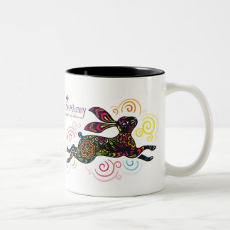 Artistic Rabbit Two-Tone Coffee Mug
