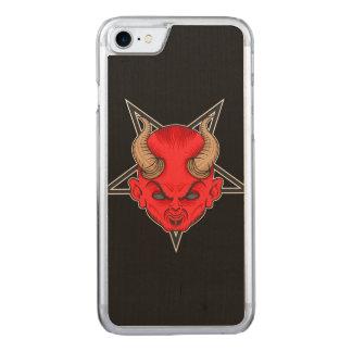 Artistic Red Devil Carved iPhone 8/7 Case