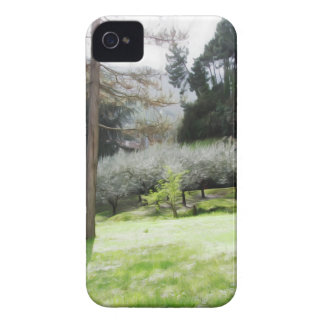 Artistic representation of tuscan countryside iPhone 4 Case-Mate case