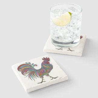 Artistic Rooster Design Coaster Stone Coaster