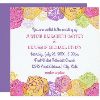 Artistic Roses - Wedding Invitation