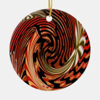 Artistic Round Ceramic Ornament