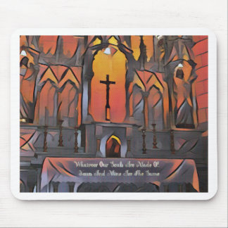 Artistic Sanctuary Cross Inspirational Quote Mouse Pad