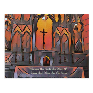 Artistic Sanctuary Cross Inspirational Quote Postcard
