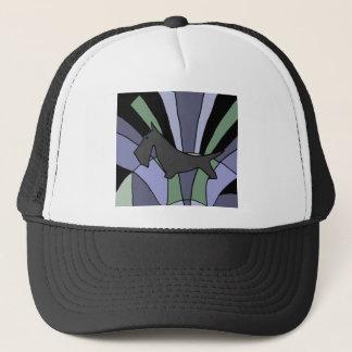 Artistic Scottish Terrier Art Deco Trucker Hat