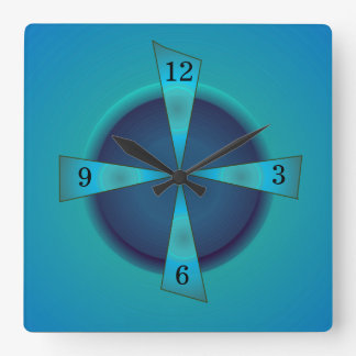 Artistic Sea green and Blue > Kitchen Clock