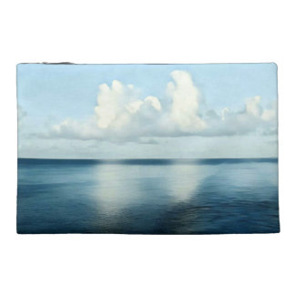 Artistic Shades of Blue Seascape Reflection Travel Accessories Bag