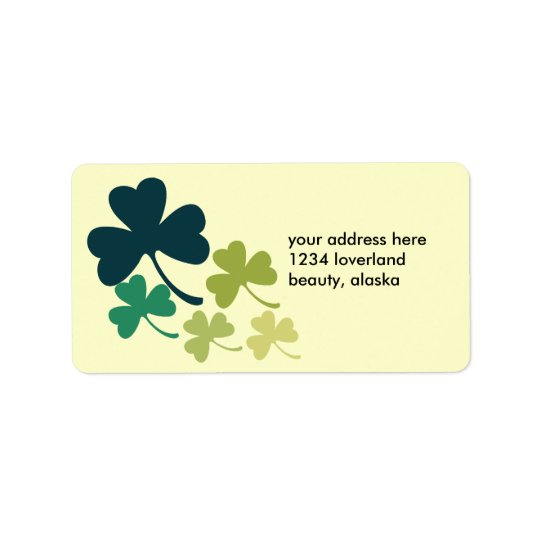 Artistic Shamrocks Label