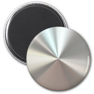 Artistic silver metal 2 inch round magnet