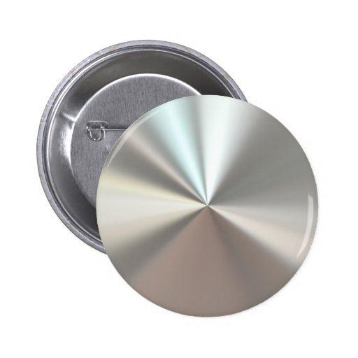 Artistic silver metal pinback button