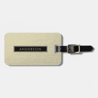 ARTISTIC SILVER WHITE SKETCH STRIPED LINE PATTERN LUGGAGE TAG