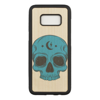 Artistic Skull (blue) Carved Samsung Galaxy S8 Case