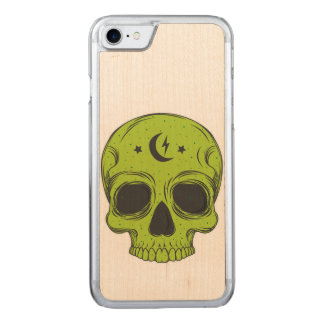 Artistic Skull (green) Carved iPhone 7 Case
