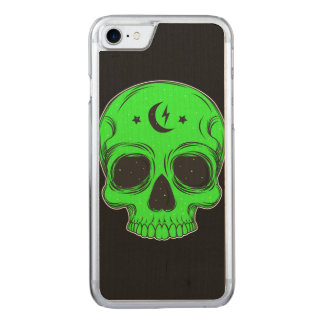 Artistic Skull (green) Carved iPhone 8/7 Case