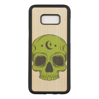 Artistic Skull (green) Carved Samsung Galaxy S8+ Case