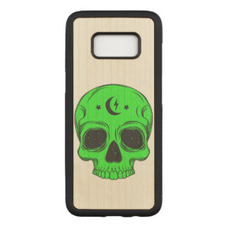 Artistic Skull (green) Carved Samsung Galaxy S8 Case
