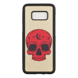 Artistic Skull Illustration Carved Samsung Galaxy S8 Case